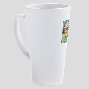 Retro Cassette Tape 17 oz Latte Mug