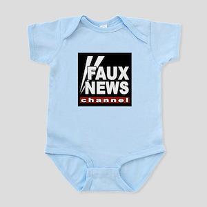 Faux News Infant Creeper