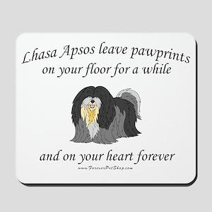 Lhasa Apso Pawprints Mousepad