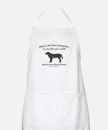Black Lab Pawprints BBQ Apron