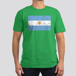Vintage Argentina Men's Fitted T-Shirt (dark)