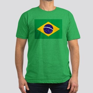 Brazil Flag Men's Fitted T-Shirt (dark)