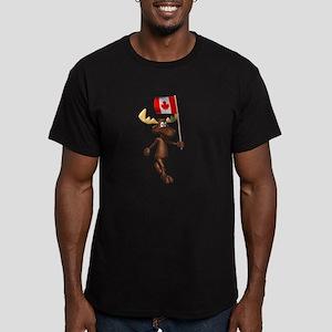Cool Moose Men's Fitted T-Shirt (dark)