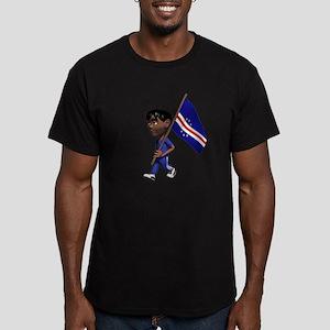 Cape Verde Boy Men's Fitted T-Shirt (dark)