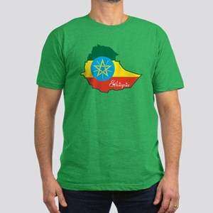 Cool Ethiopia Men's Fitted T-Shirt (dark)
