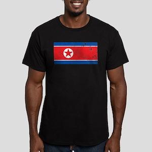 Vintage North Korea Men's Fitted T-Shirt (dark)