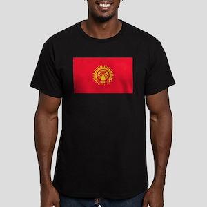 Kyrgyzstan Flag Men's Fitted T-Shirt (dark)