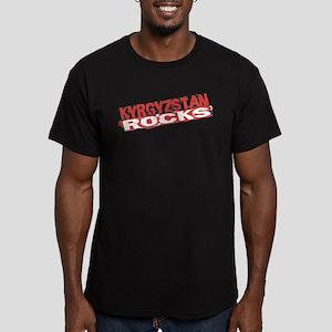Kyrgyzstan Rocks Men's Fitted T-Shirt (dark)