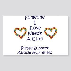 Someone I Love Needs A Cure-A Rectangle Sticker