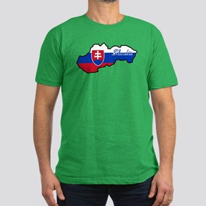 Cool Slovakia Men's Fitted T-Shirt (dark)