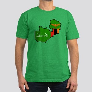 Cool Zambia Men's Fitted T-Shirt (dark)