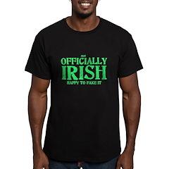 Officially Irish Men's Fitted T-Shirt (dark)