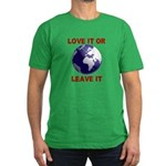 Love It or Leave It Men's Fitted T-Shirt (dark)