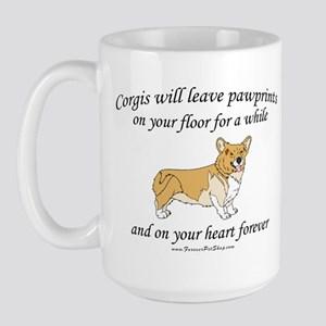 Corgi Pawprints Large Mug