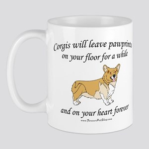 Corgi Pawprints Mug