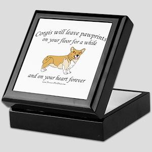 Corgi Pawprints Keepsake Box