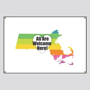 Massachusetts - All Are Welcome Here Banner
