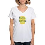 Fun Women's V-Neck T-Shirt: Well behaved women