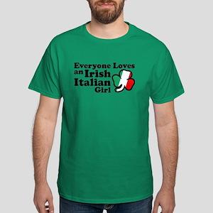 Everyone Loves an Irish Itali Dark T-Shirt