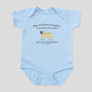 Pug Pawprints Infant Bodysuit
