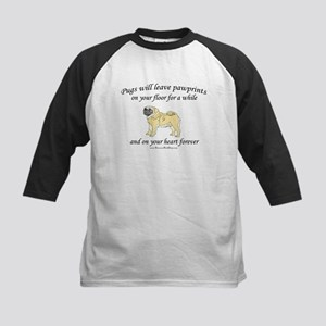 Pug Pawprints Kids Baseball Jersey