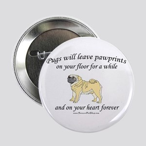 "Pug Pawprints 2.25"" Button"