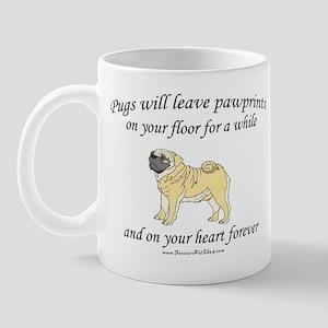 Pug Pawprints Mug