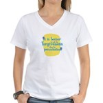 Fun Women's V-Neck T-Shirt: It is better to ask