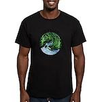 Imagine Whirled Peas Men's Fitted T-Shirt (dark)
