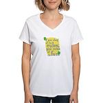 Fun Women's V-Neck T-Shirt: If you obey