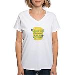 Fun Women's V-Neck T-Shirt: Cheer up!