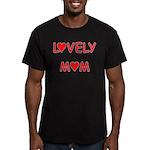 Lovely Mom Men's Fitted T-Shirt (dark)