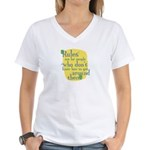 Fun Women's V-Neck T-Shirt: Rules are for people