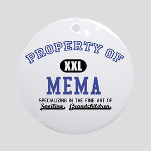 Property of Mema Ornament (Round)