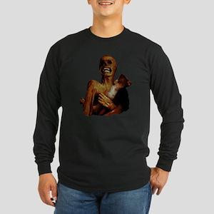 Hungry Hungry Zombie Long Sleeve Dark T-Shirt