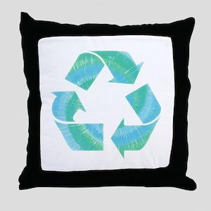 Tie Dye Recycle Throw Pillow