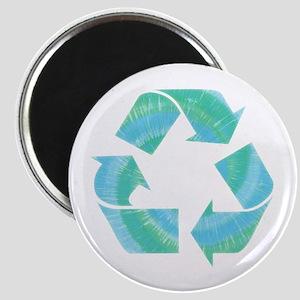 Tie Dye Recycle Magnet