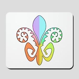 Festive Fleur de lis (color) Mousepad