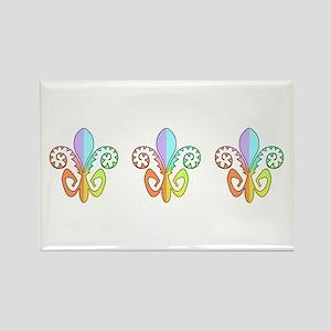 Festive Fleur de lis (color) Rectangle Magnet