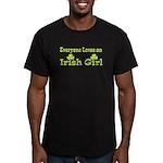 Irish girl Men's Fitted T-Shirt (dark)