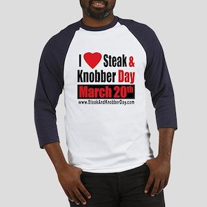 I Love Steak and Knobber Day Baseball Jersey