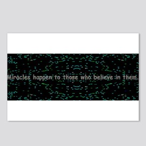 Miracles happen to Postcards (Package of 8)