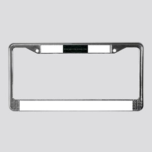 Miracles happen to License Plate Frame