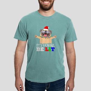 I'm LIT Cute Pug Christmas It's Go T-Shirt