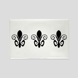 Festive Fleur de lis (BW) Rectangle Magnet