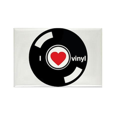 I Heart Vinyl Rectangle Magnet (100 pack)