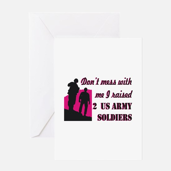 Cute Proud army mom Greeting Card