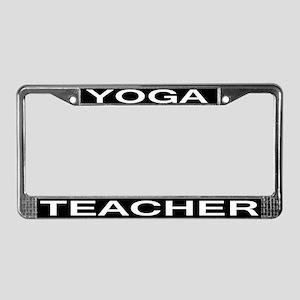 Yoga Teacher License Plate Frame