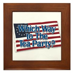 Which Way to The Tea Party? v2 Framed Tile