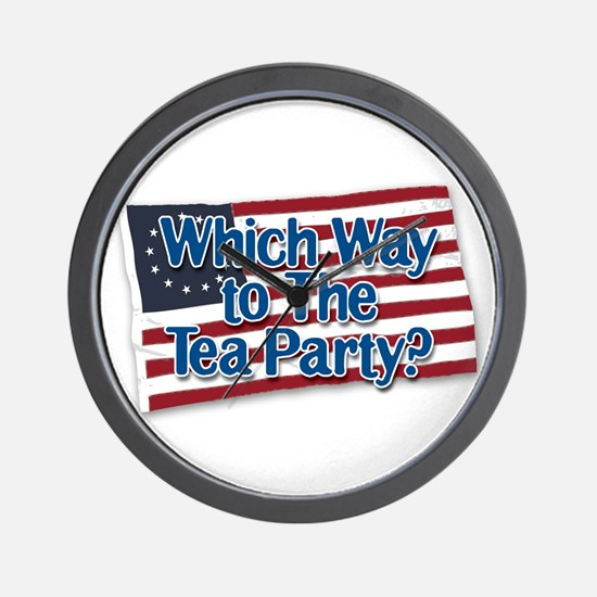 Which Way to The Tea Party? v2 Wall Clock